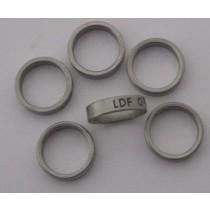 Lukket kraftig flad stålring LDFP 18.0 mm