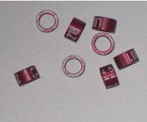 Knækring farvet 5.0 mm Rød