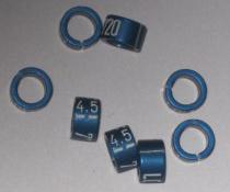 Knækring farvet 4.5 mm Blå